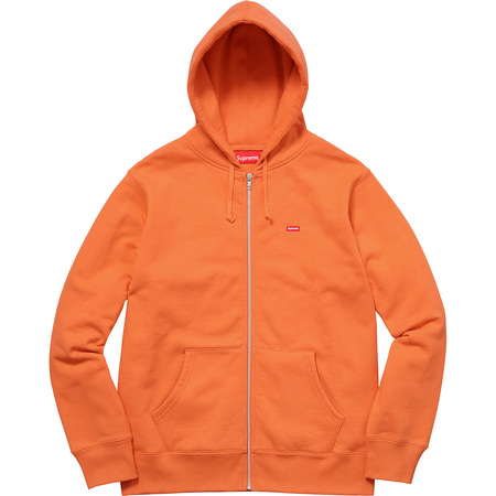 Small Box Zip Up Sweatshirt (Bright Orange)