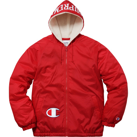 Supreme®/Champion® Sherpa Lined Hooded Jacket (Red)