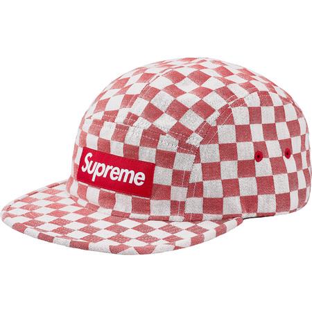 Checkerboard Camp Cap (Red)