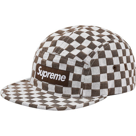 Checkerboard Camp Cap (Brown)