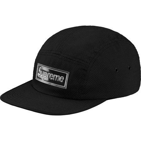 Nylon Pique Camp Cap (Black)