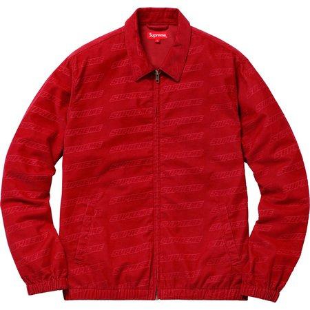 Debossed Logo Corduroy Jacket (Red)