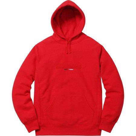 Embossed Logo Hooded Sweatshirt (Red)