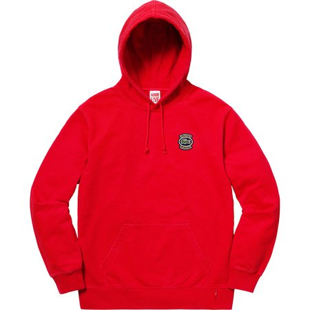 Supreme®/LACOSTE Hooded Sweatshirt (Red)