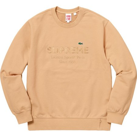Supreme®/LACOSTE Crewneck (Light Brown)