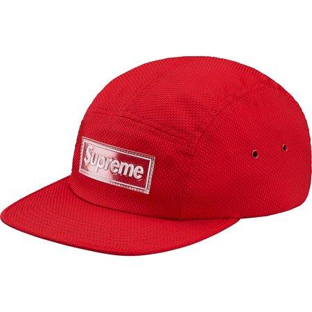 Nylon Pique Camp Cap (Red)