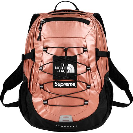 Supreme®/The North Face® Metallic Borealis Backpack (Rose Gold)
