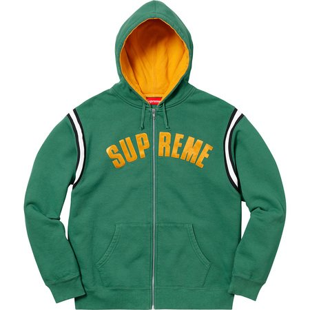 Jet Sleeve Zip Up Hooded Sweatshirt (Light Pine)
