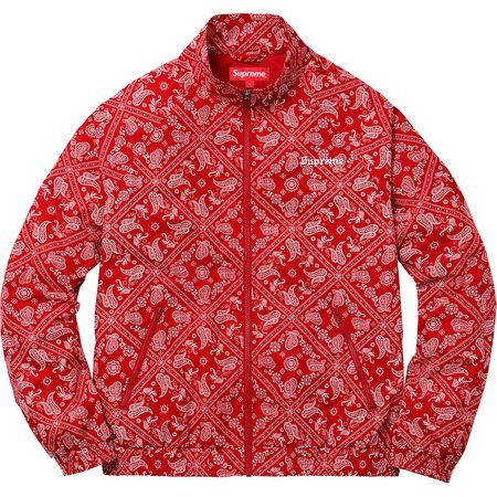 Bandana Track Jacket (Red)
