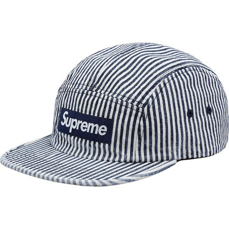 Denim Camp Cap (Indigo Stripe)