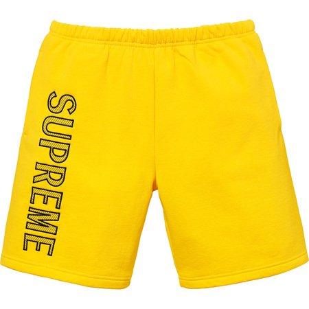 Leg Embroidery Sweatshort (Yellow)
