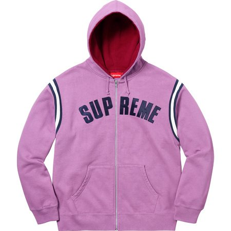 Jet Sleeve Zip Up Hooded Sweatshirt (Violet)