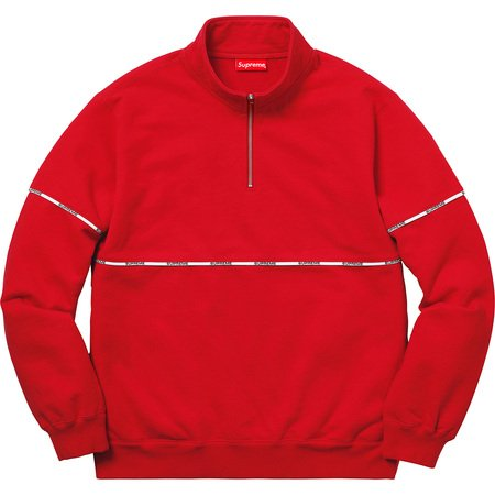Logo Piping Half Zip Sweatshirt (Red)