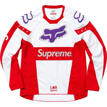 Supreme®/Fox Racing® Moto Jersey Top (Red)