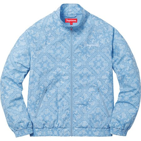 Bandana Track Jacket (Light Blue)