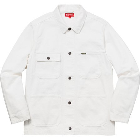 NY Tapestry Denim Chore Coat (White)