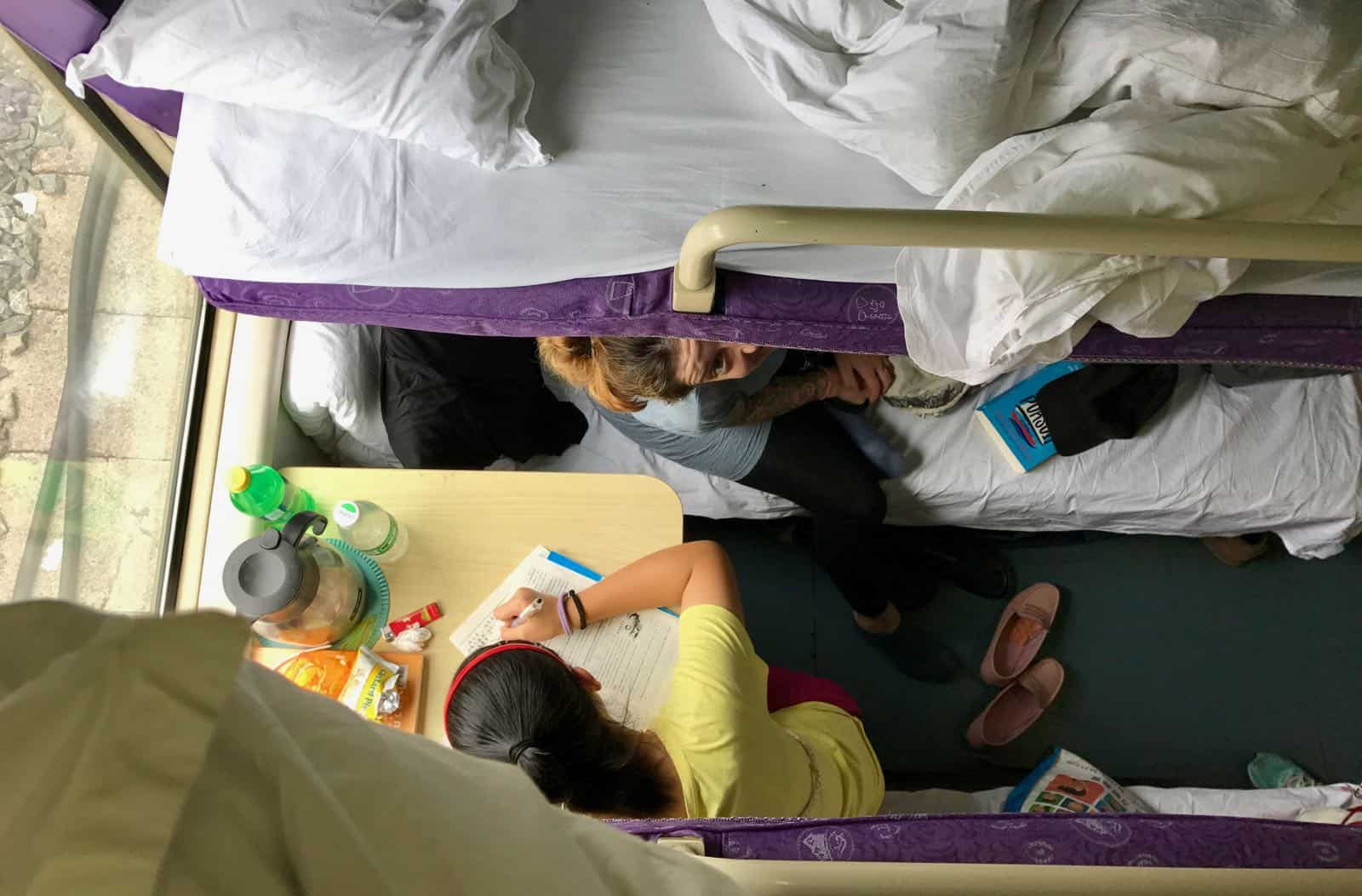 View from the top bunk betternotstop China Hard Sleeper Hannah