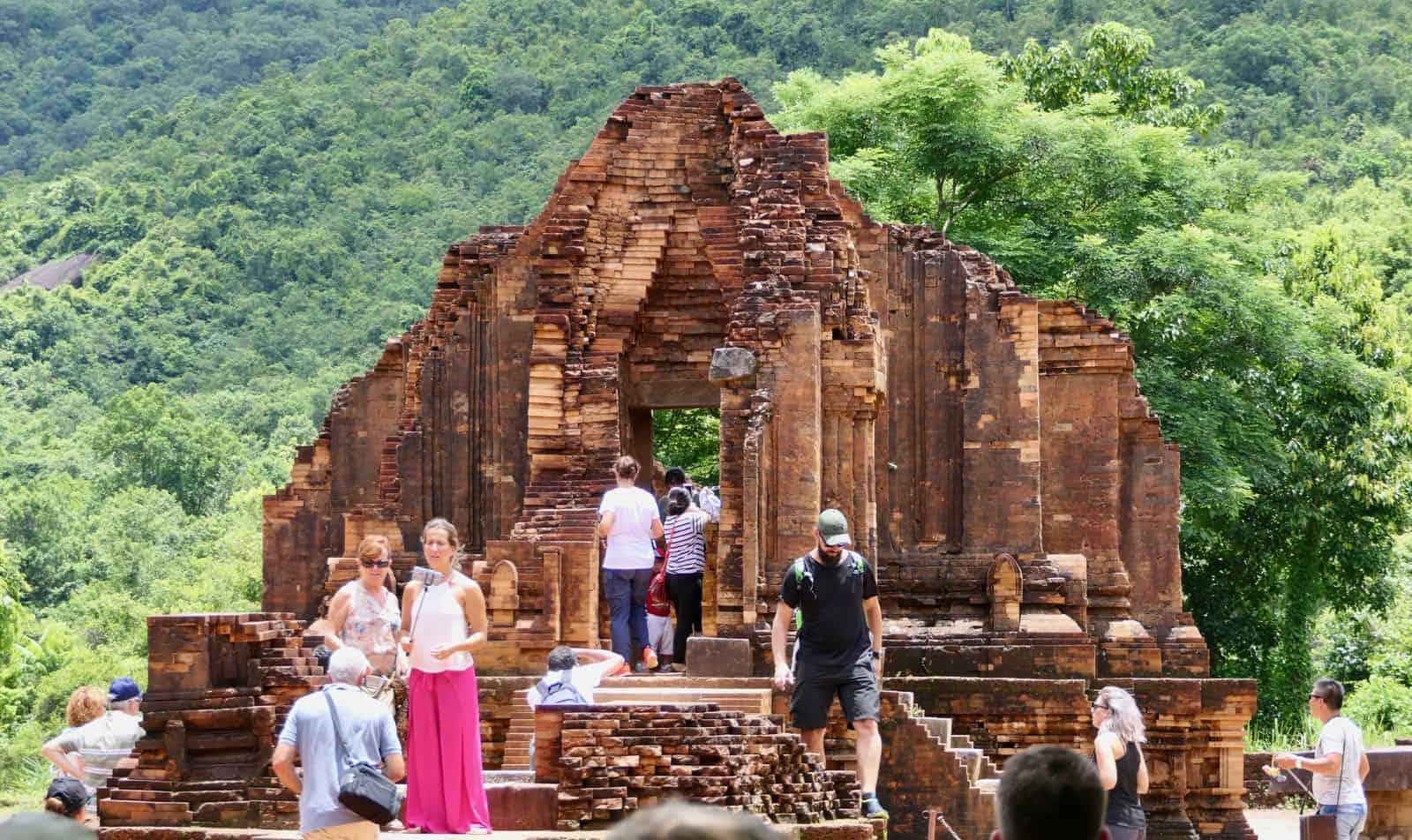 Tourists My Son Hoi An Vietnam betternotstop