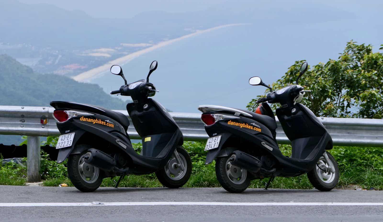 Da Nang Bikes Hai Van Pass Vietnam scooter fun betternotstop