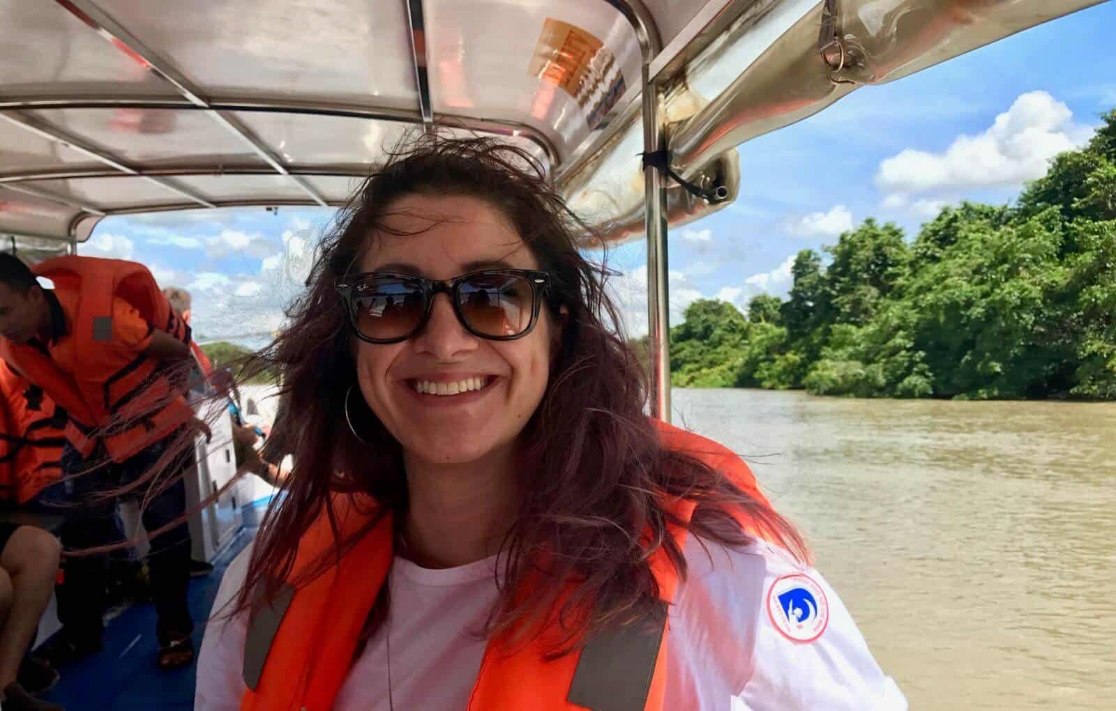 Hannah on the river Vietnam Saigon betternotstop