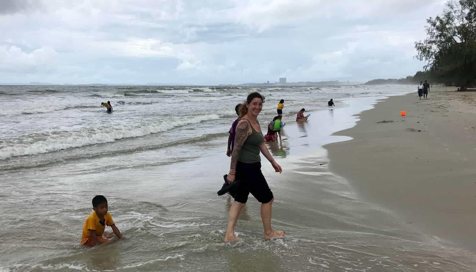 betternotstop frolicking paddling Cambodia Sihanoukville