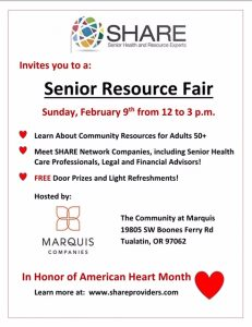 White Flyer Senior Resource Fair
