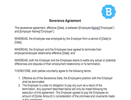 Severance Agreement Template Free