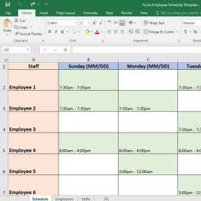 Free xls (excel) and pdf employee work schedule templates. Employee Schedule Template