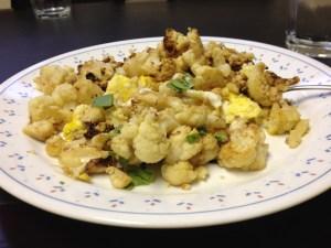 Caluiflower Omelet