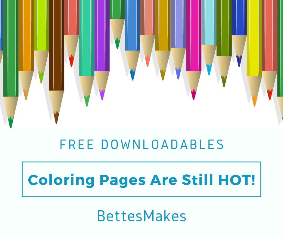 Coloring Pages Are Still Hot!