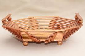 Popsicle stick craft bowl