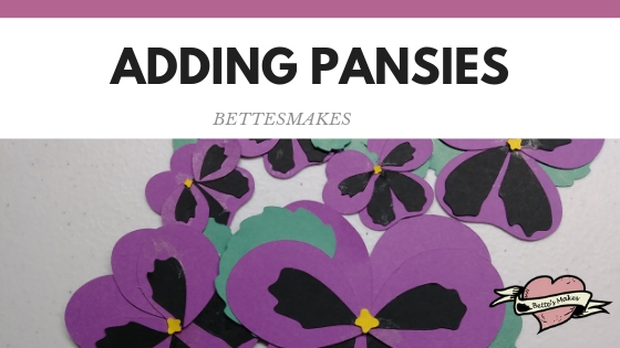 Best Ever Mother's Day Card - adding pansies