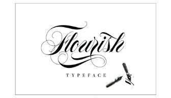 Font Flourish Typeface