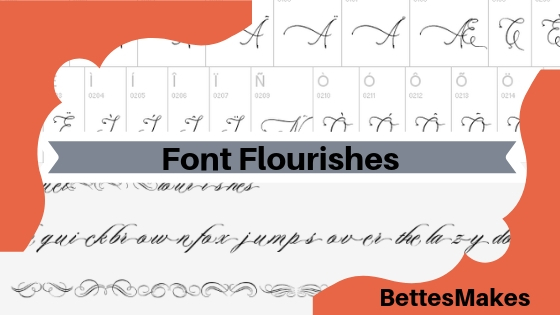 Font Flourishes - made for DIY Crafts | DIY Ideas | Calligraphy | Card Making