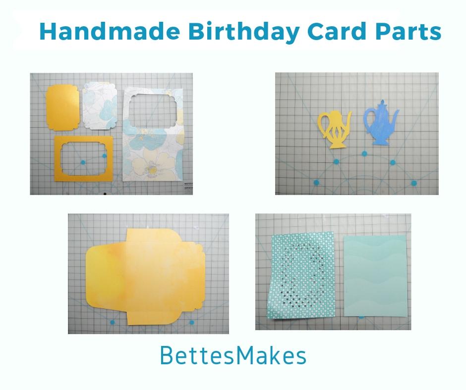 Handmade Birthday Card Parts