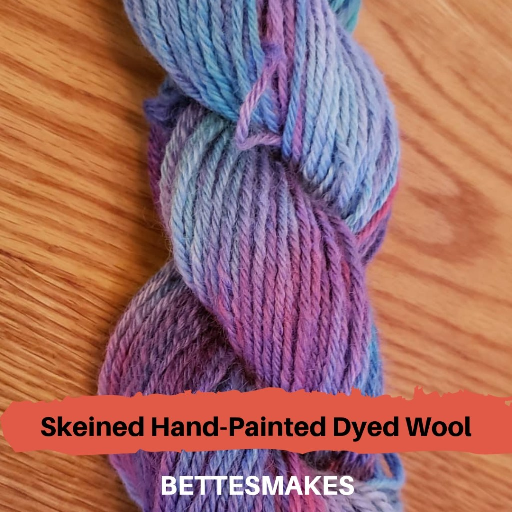 Skeined Hand-Painted Dyed Wool