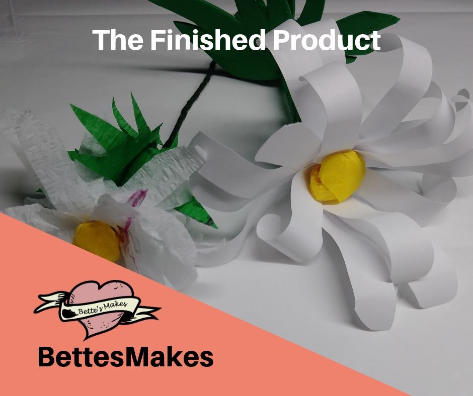 DIY Paper Flower Daisy