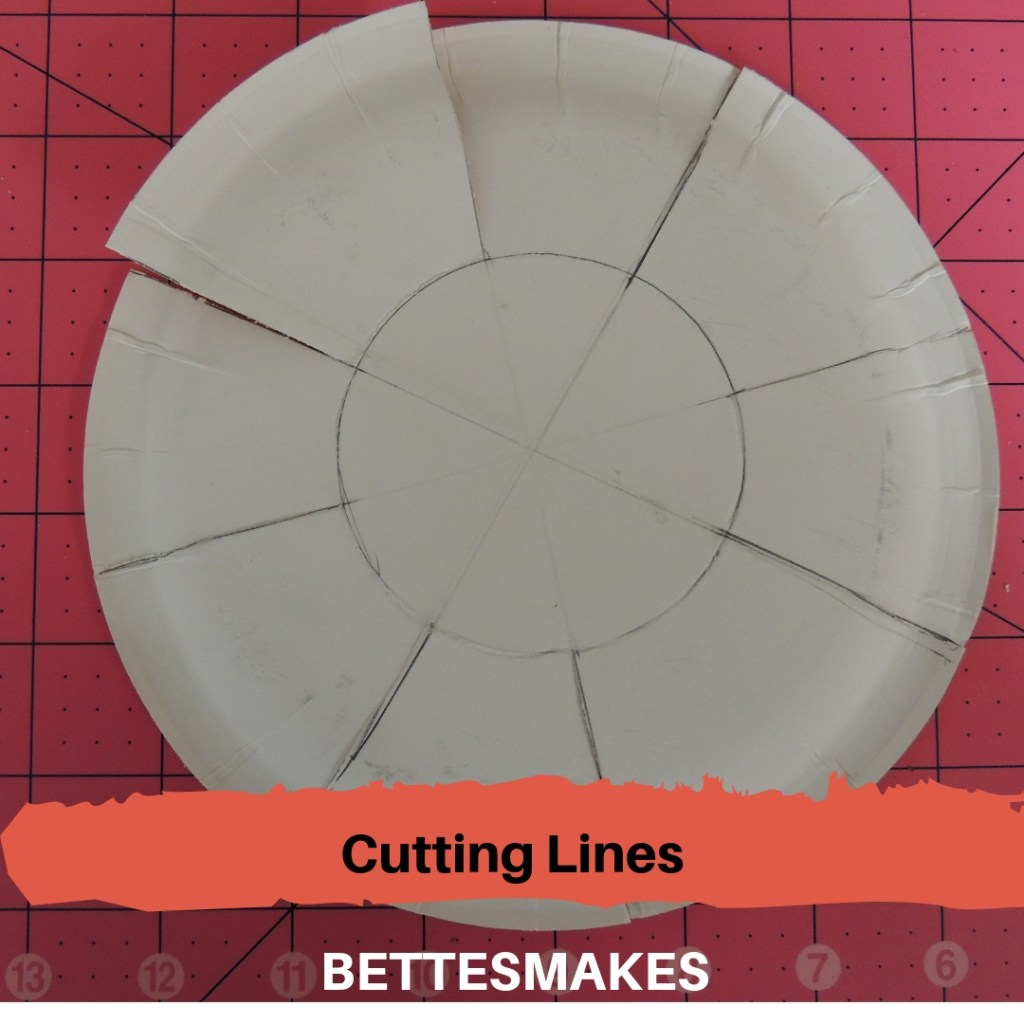 Cutting Lines for Paper Plate Weaving