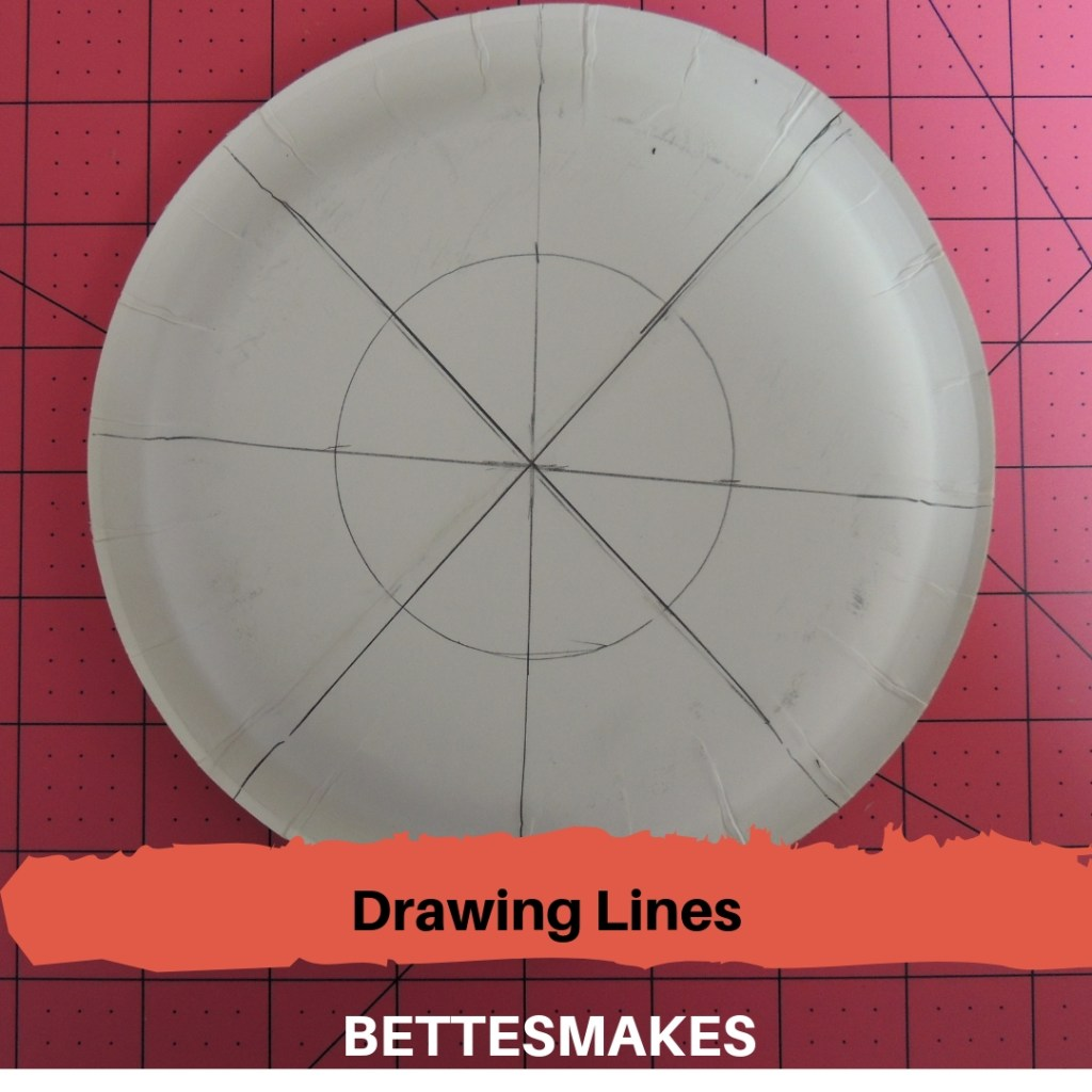 Drawing Lines for Paper Plate Weaving