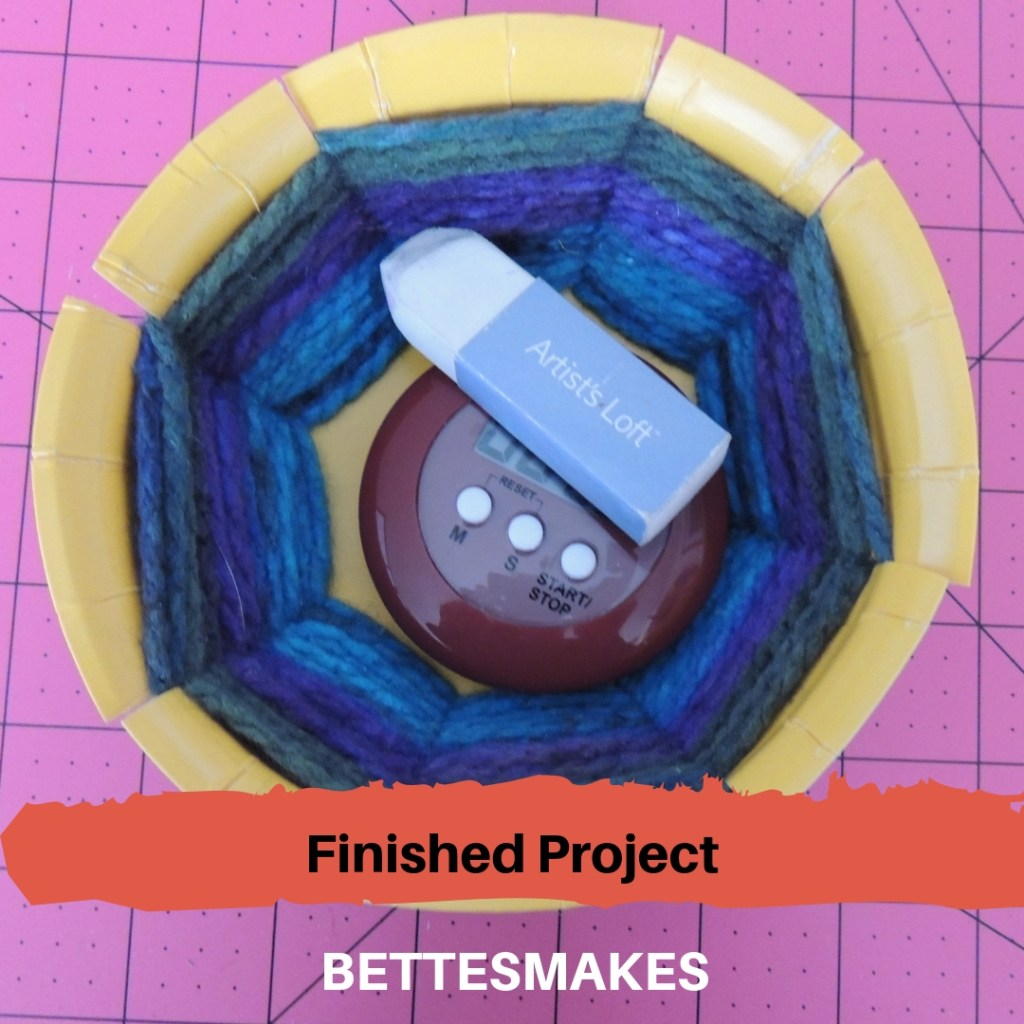 Paper Plate Weaving - Finished Project