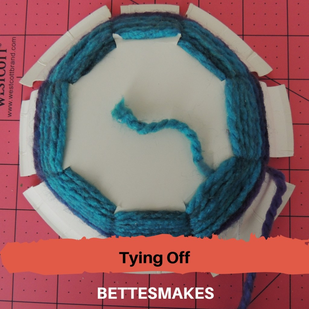 Paper Plate Weaving - Tying Off