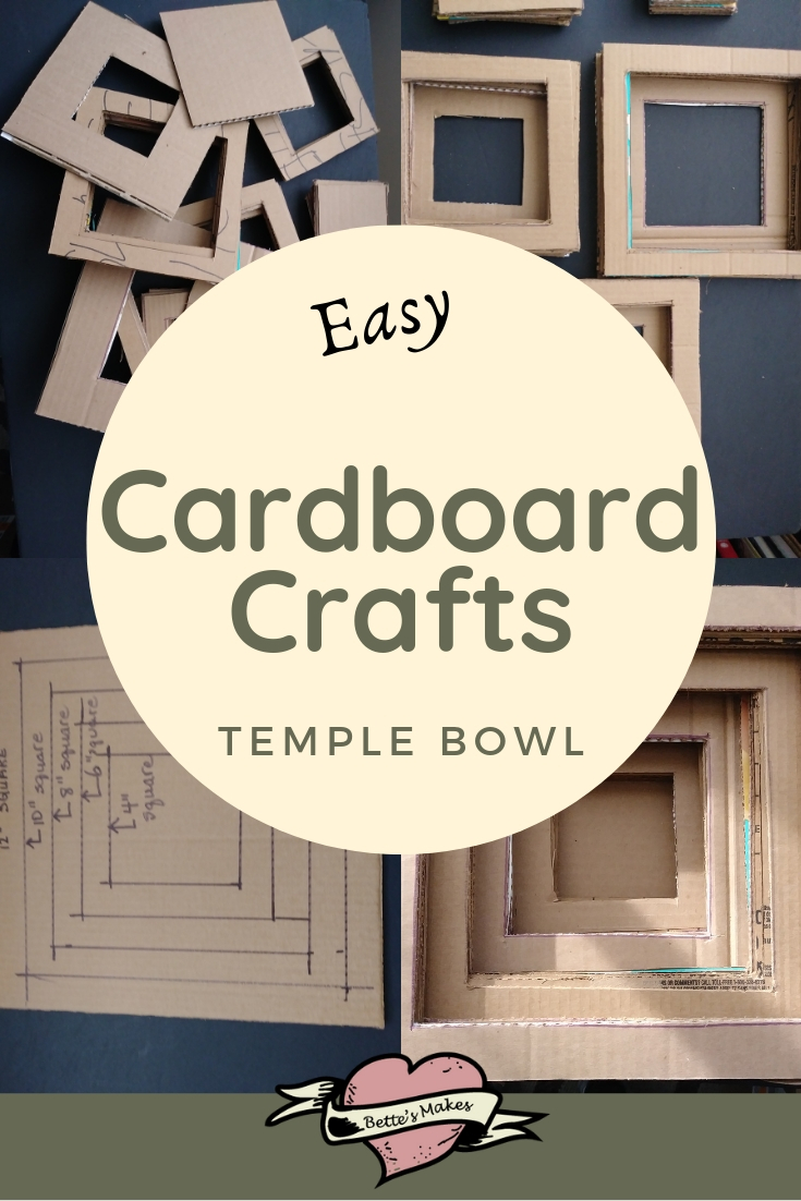 Cardboard Craft Temple Style Bowl
