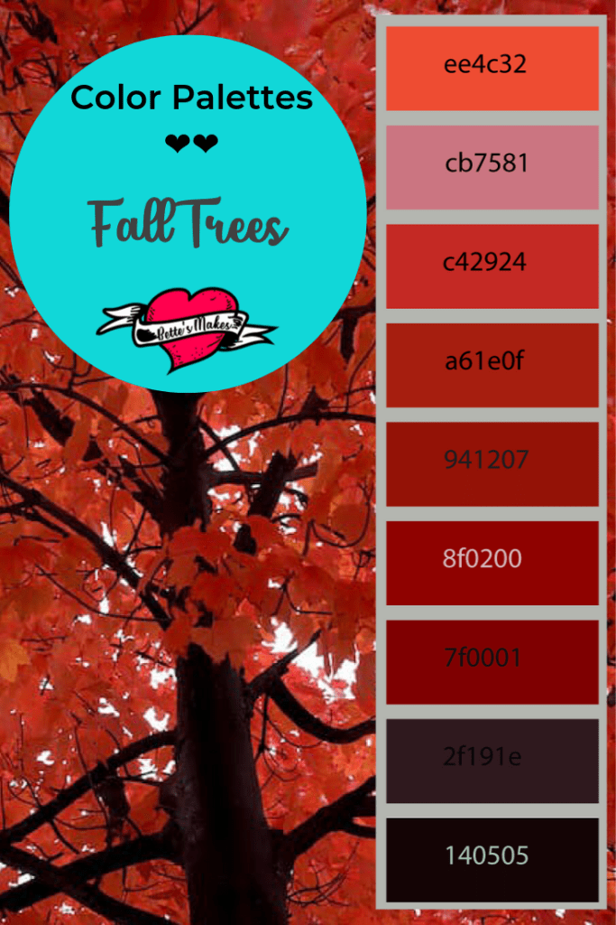 Wow - Fall colors are amazing! Take this palette to make all your fall decorations! Think Halloween, Thanksgiving and more...FREE from BettesMakes.com