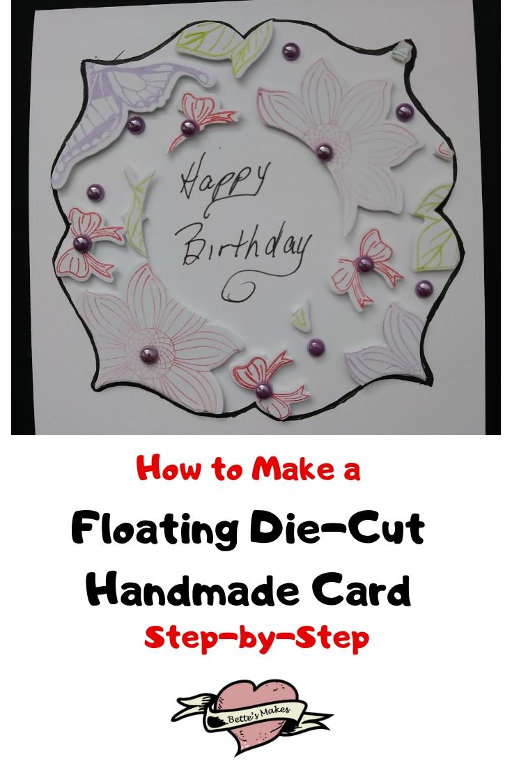 Floating Die-Cut Handmade Cards