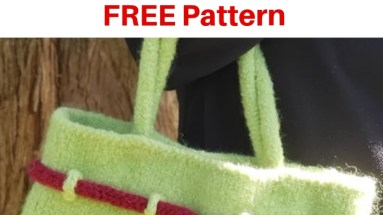 How to Make a Knitted and Felted Totem Tote