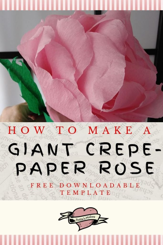 How to Make a Giant Crepe-Paper Rose from https://BettesMakes.com