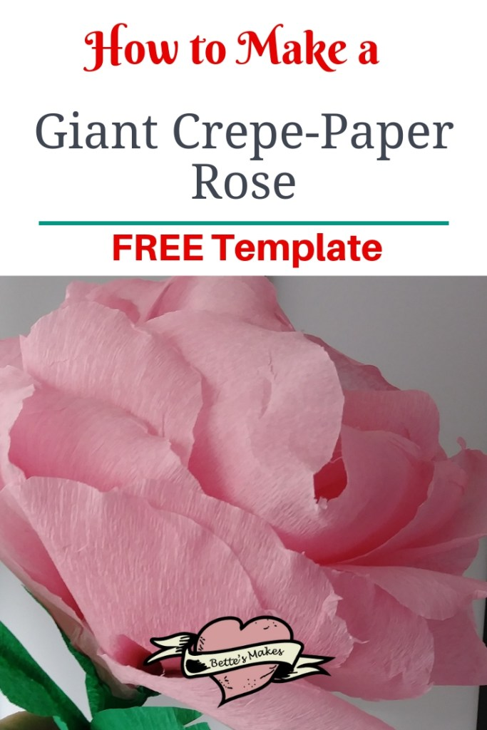 How to Make a Giant Crepe-Paper Rose Tutorial