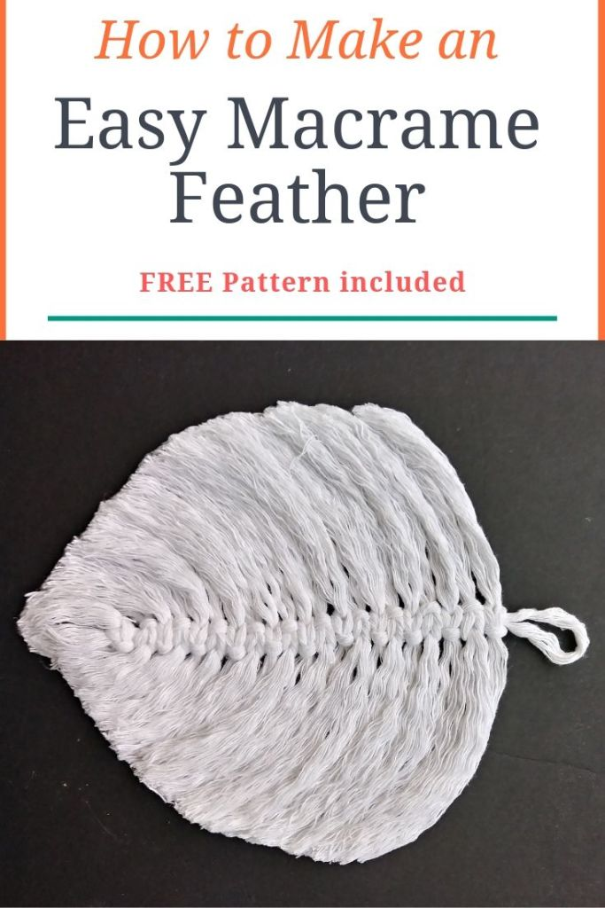 How to Make an Easy Macrame Feather Today