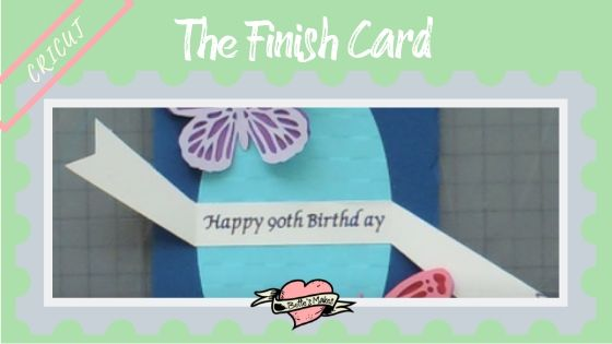 Cricut Project - the finished card - BettesMakes.com