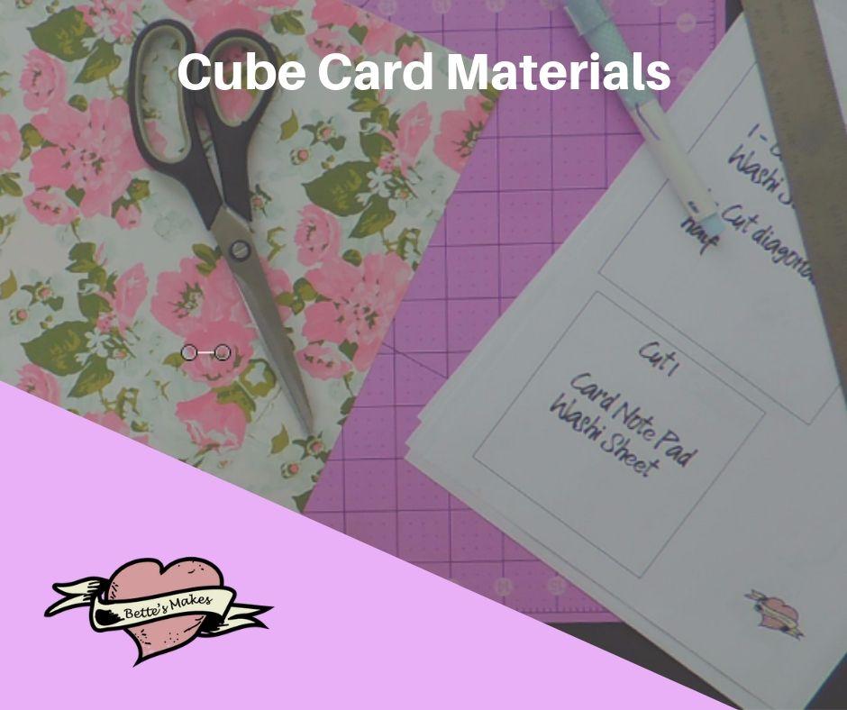 Handmade Cards: Fantastic Cube Card Materials - BettesMakes.om